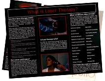 Laser Therapy Brochure Front